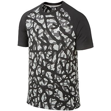 47f2f0ae8e27d5 Amazon.com  Nike Mens Air Jordan Camo Elephant Print T Shirt Black ...