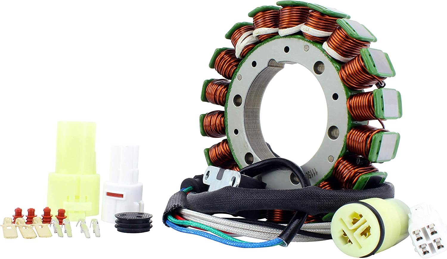 OEM Repl.# 5KM-81410-00-00 5KM-81410-01-00 HO Stator for Yamaha YFM 350 Grizzly 2007-2014 Wolverine 2006-2009 5UH-81410-00-00 Bruin 2004-2006 YFM 660 Grizzly 2002-2008