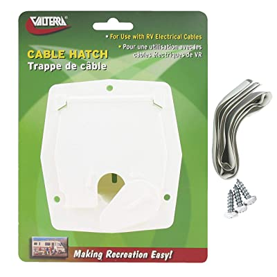 Valterra A10-2143VP Small Square Cable Hatch - White: Automotive
