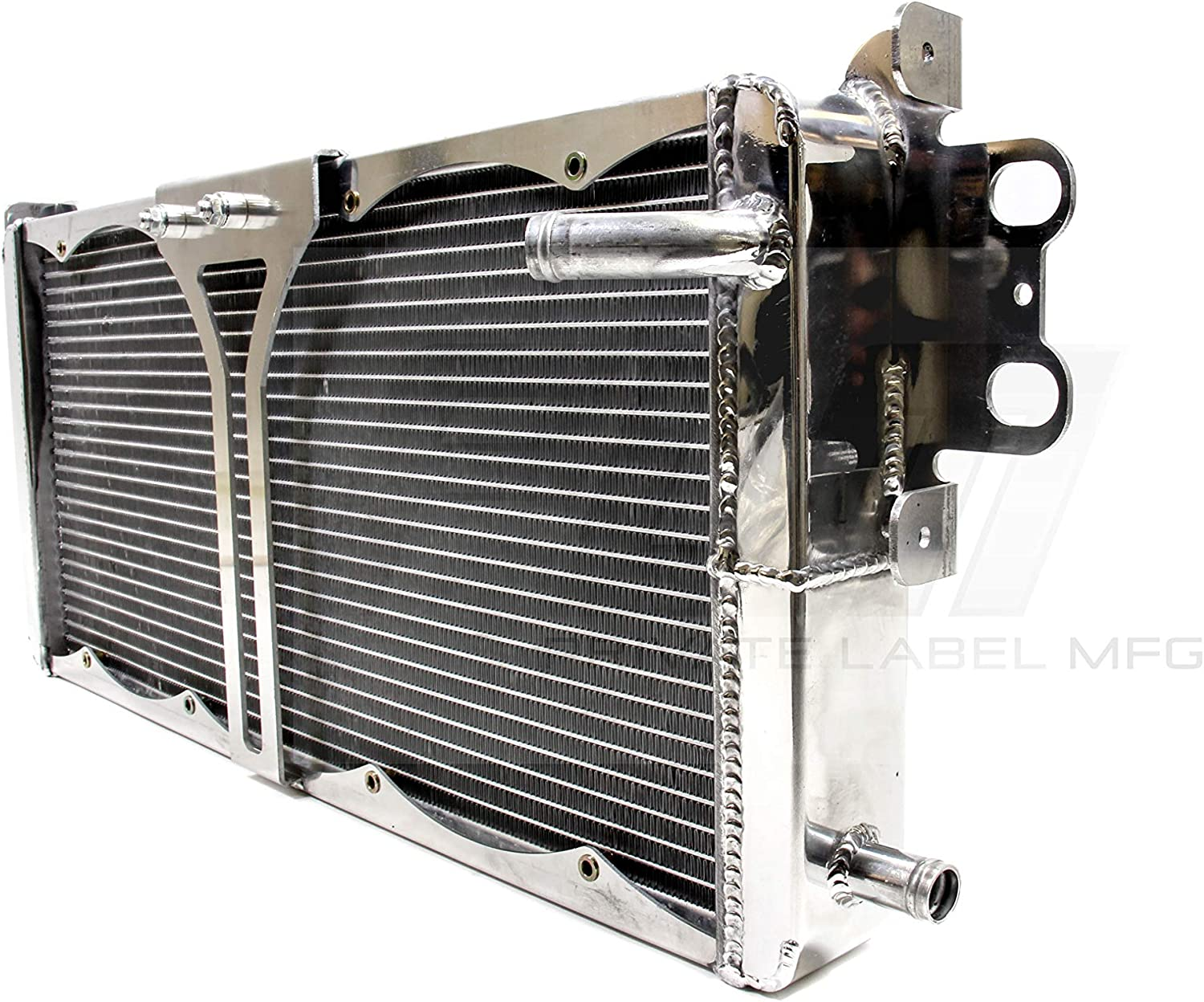 2007-2012 Mustang Shelby GT500 Supercharged Fits Silver PLM Power Driven Double Pass Heat Exchanger