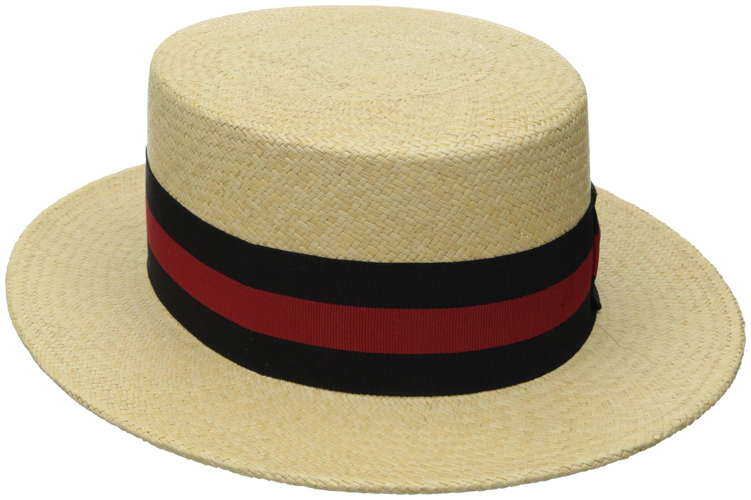 Scala Men's Panama Skimmer Hat, Natural, X-Large