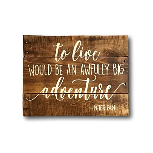 Amazoncom To Live Would Be An Awfully Big Adventure Wall Art