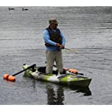 Kayak Outriggers / Stabilizers w/ ORANGE FLOATS