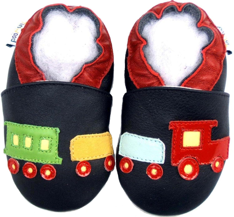 Prewalk Baby Shoes Boy Girl Soft Sole Leather Infant Children Kid Toddler Crib Gift Train Navy