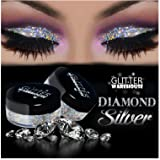GlitterWarehouse Glitter for Eyeshadow / Eye Shadow Shimmer Makeup Powder Diamond Silver