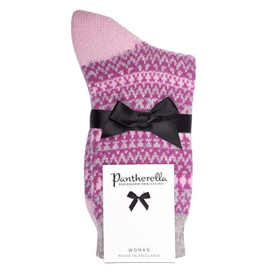 Pantherella - Ladies' Cashmere Socks - Winter Fair Isle W268 ...