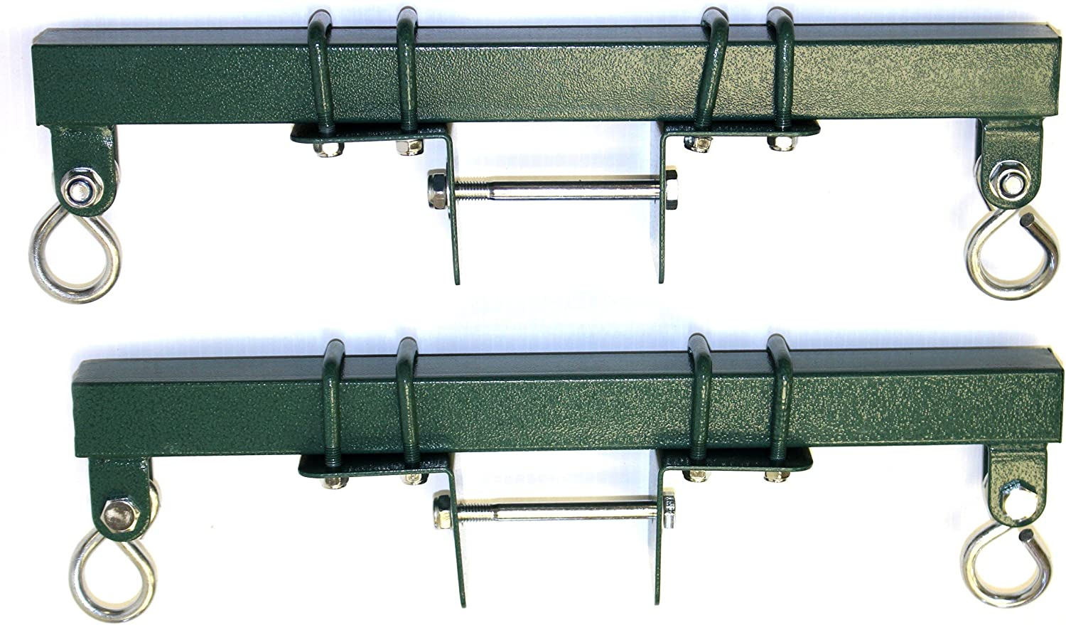 Eastern Jungle Gym Heavy Duty Brackets (Pair) for Backyard Swing Set Horse Glider Seat - Adjustable to Mount to Any Size Wooden Swing Beam