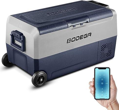 BODEGA 36L Nevera Auto 12V congelador portatil -20℃-20℃ camion frigorifico Playa Camper Nevera portatil con Ruedas pequeña electrica, 12/24V ...