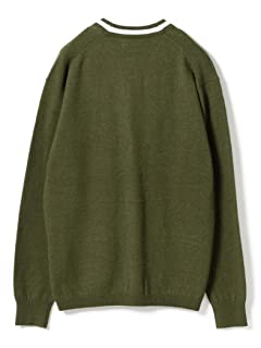 Wool Tipped V-neck Cardigan 11-15-1039-048: Olive