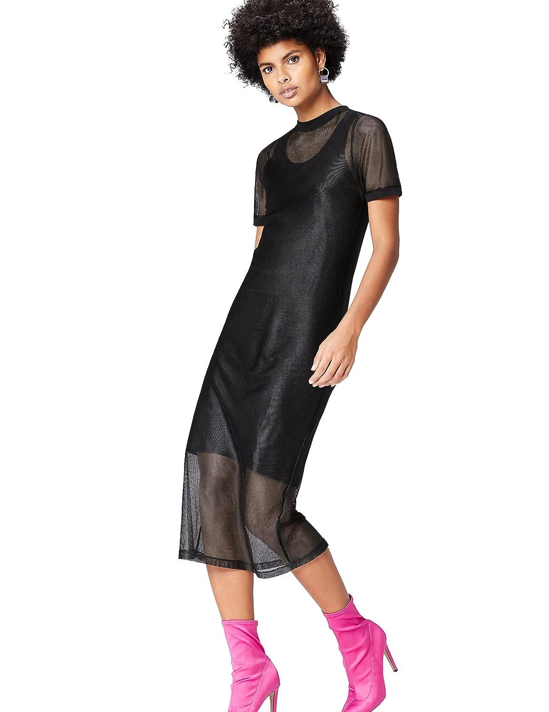 Marca Amazon - find. Vestido de Red para Mujer