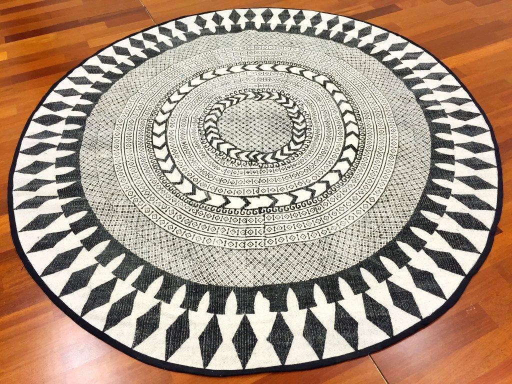 Trendcarpet Flickenteppich - Marrakech (rund) (schwarz grau weiß) Größe Rund 200 cm