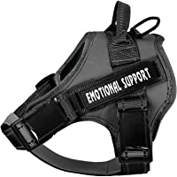 voopet Service Dog Harness, No-Pull Emotional Support Pet Vest Harness, Reflective Breathable and Adjustable Pet Halters…
