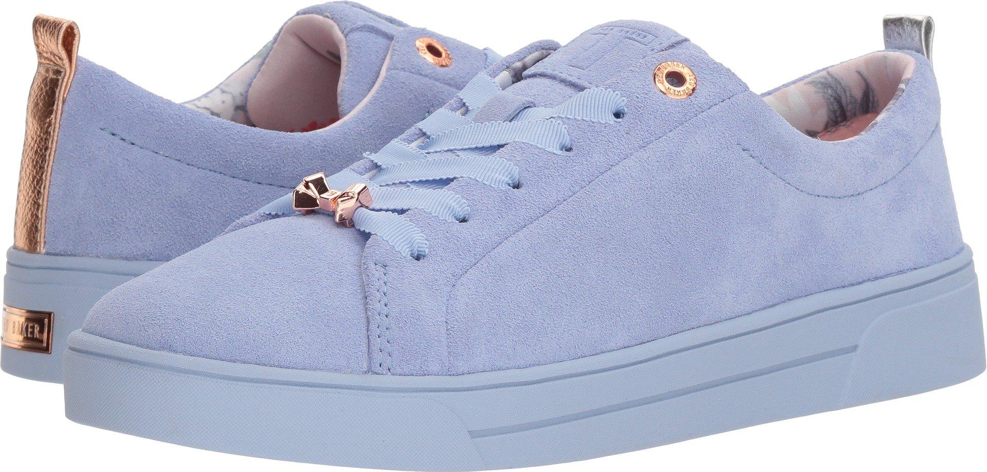 Ted Baker Women's Kellei Sneaker, Light Blue Suede, 6 Medium US