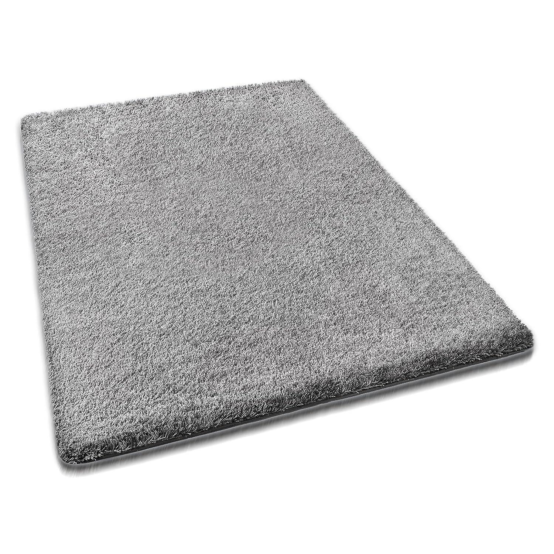 Casa pura® hochwertiger Hochflor - Teppich für besonders weiches Laufgefühl   grau   4 Größen   160x230cm