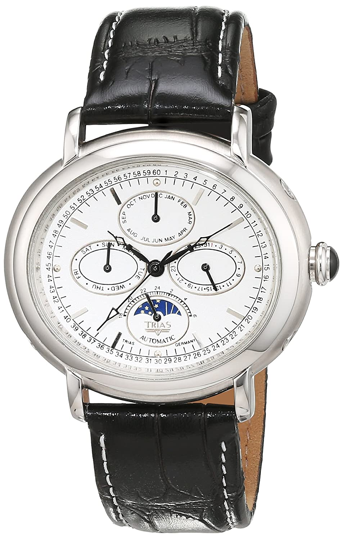 Trias Herren-Armbanduhr Analog Automatik Leder TR-T21584-W