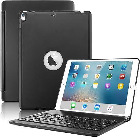 Nuevo iPad Pro Teclado 10,5 Caso, Boriyuan – Funda Folio Ultra Slim – Carcasa rígida luz Peso Soporte Smart Cover para Apple iPad Pro Tablet 2017 de ...