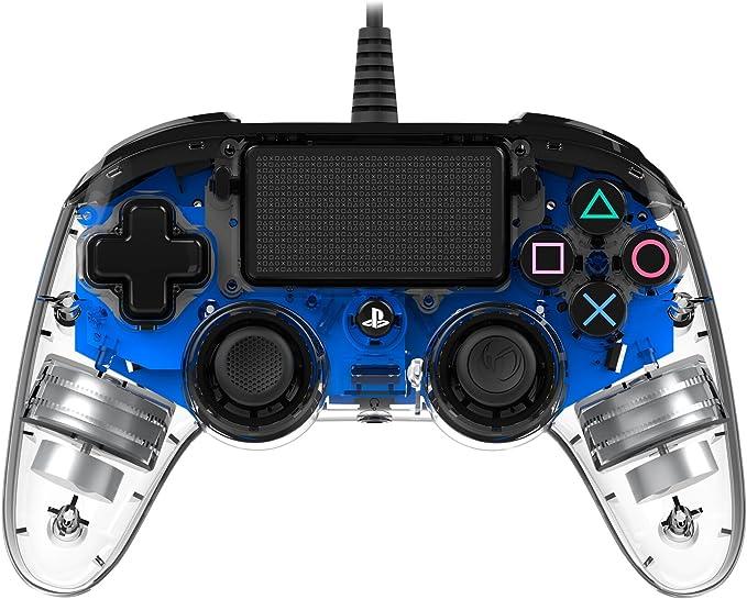 Nacon PS4OFCPADCLBLUE - Mando Compacto para PS4, Azul Transparente ...