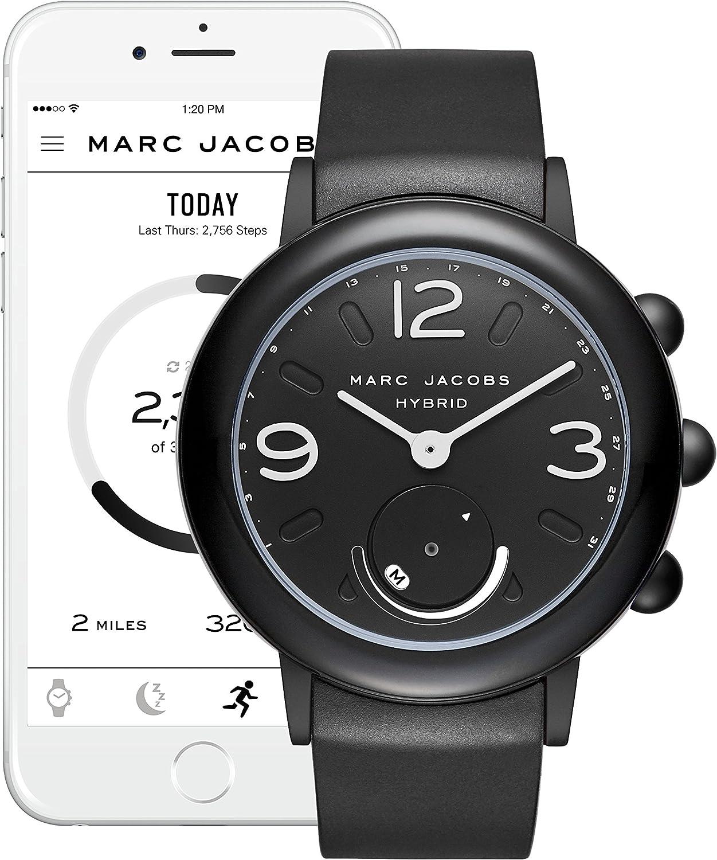 Marc Jacobs Women S Riley Aluminum And Rubber Hybrid Smartwatch Color Black Mjt1002 Amazon Ca Watches