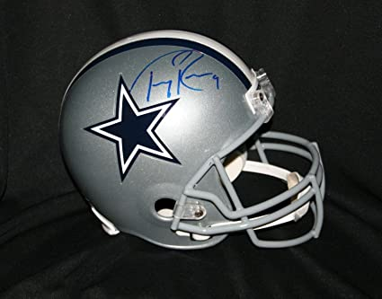 buy popular eebc0 1d085 Amazon.com: Tony Romo Signed Helmet - Full Size - PSA/DNA ...