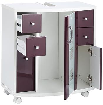 Posseik 5418 89 Nizza (Nizas) Mobiletto per lavabo colore: Bianco ...