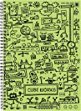Matrikas Cube Work Ring Book - A5, 160 Pages, Green