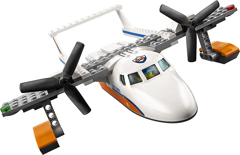 141 Piece LEGO City Coast Guard Sea Rescue Plane 60164 Building Kit