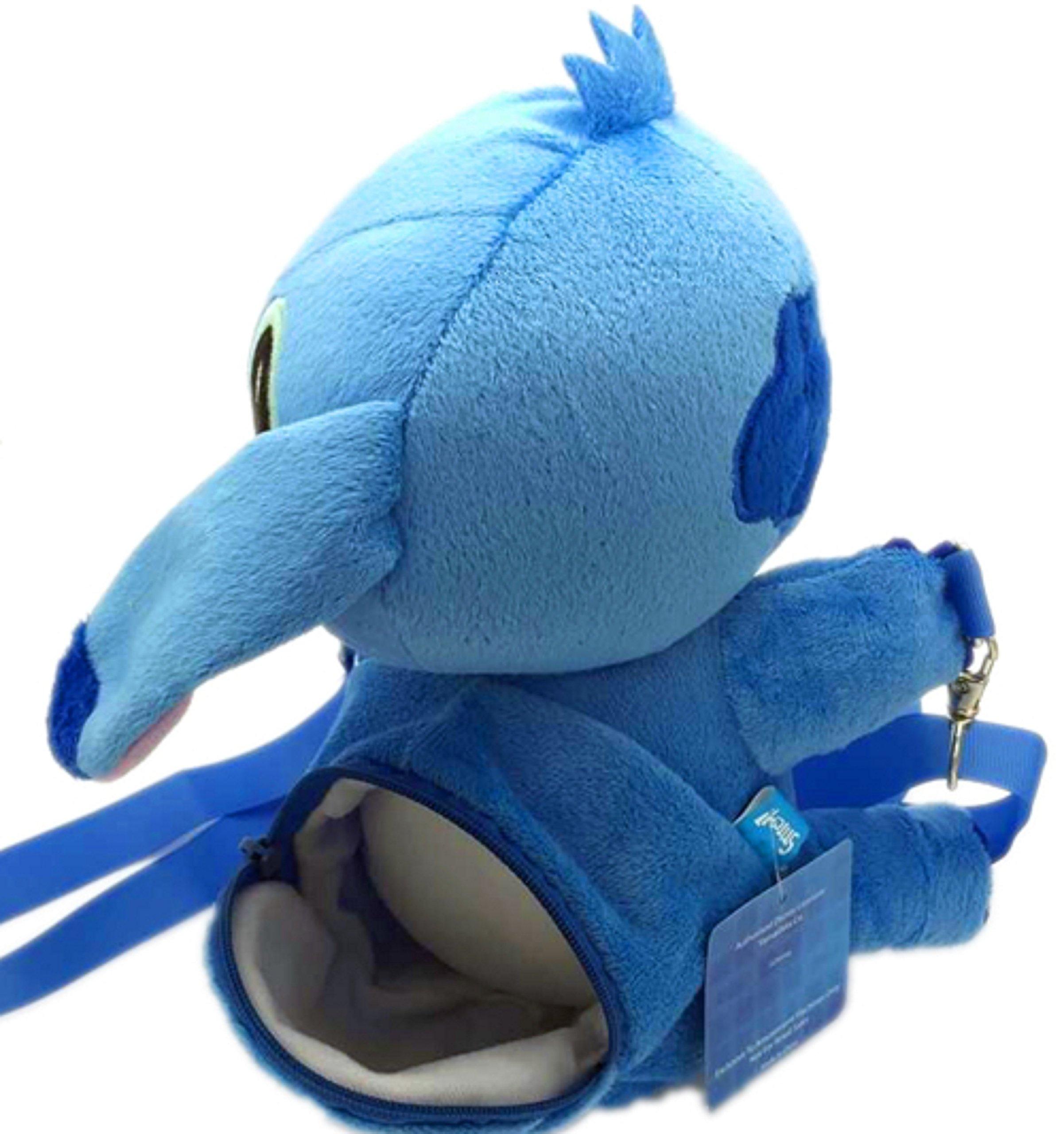 Disney Stitch Set . Soft Plush Crossbody/Shoulder Mini Bag with Small Pocket + Stitch Watch For kids. H 9''. Limited Edition. by LILO & STITCH (Image #5)