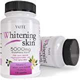 Glutathione Whitening Pills - Dark Spots & Acne Scar Remover - 5000mg - Made in USA - Vegan Skin Bleaching Pills with Anti-Ag