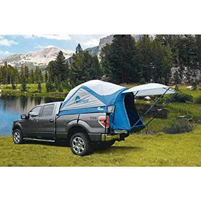 RT One Size White Blue Polyester Compact Sportz Truck Camping Tent Accessories: Garden & Outdoor