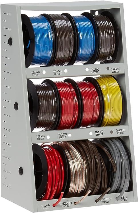 43111 12-Spool Automotive Wire ortment with Steel Rack ... on dart rack, conduit rack, audio rack, painting rack, electrical rack, hollywood rack, wood rack, controller rack, power rack, cable rack, harness rack, transmission rack, switch rack,