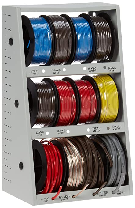 43111 12 spool automotive wire assortment with steel rack d132 rh amazon ca Painless Wiring Auto Electrical Wiring Supplies