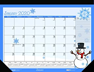 House of Doolittle 2020 Monthly Seasonal Desk Pad Calendar, 18.5 x 13 Inches, January - December (HOD1396-20)