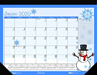 product image for House of Doolittle 2020 Monthly Seasonal Desk Pad Calendar, 18.5 x 13 Inches, January - December (HOD1396-20)