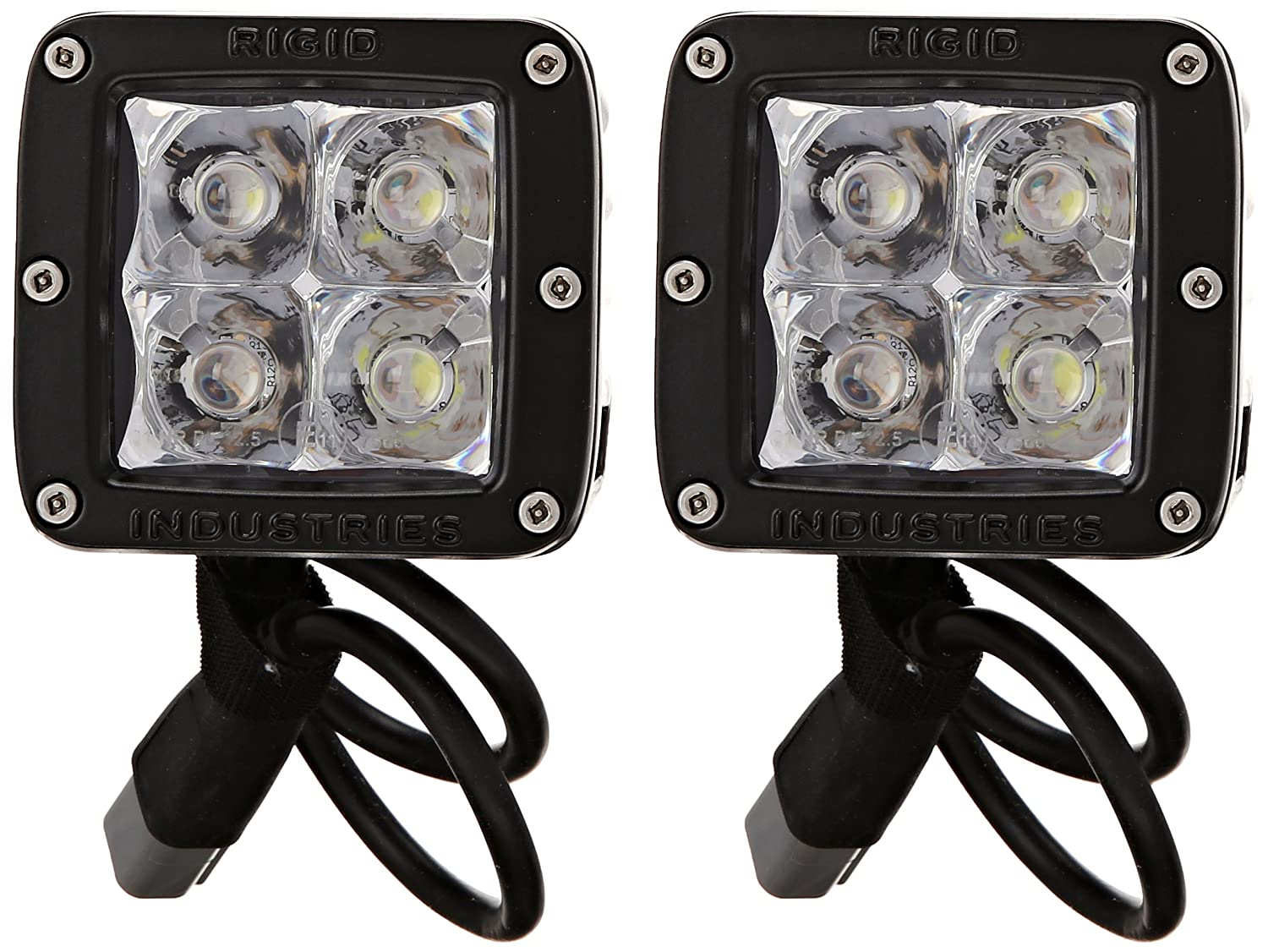 Rigid Industries 20221EM E-Mark Dually Spot Light, (Set of 2)