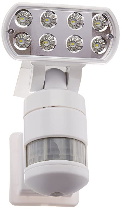 Creative industries nw500wh night watcher security light with creative industries nw500wh night watcher security light with motorized motion tracking led white mozeypictures Gallery