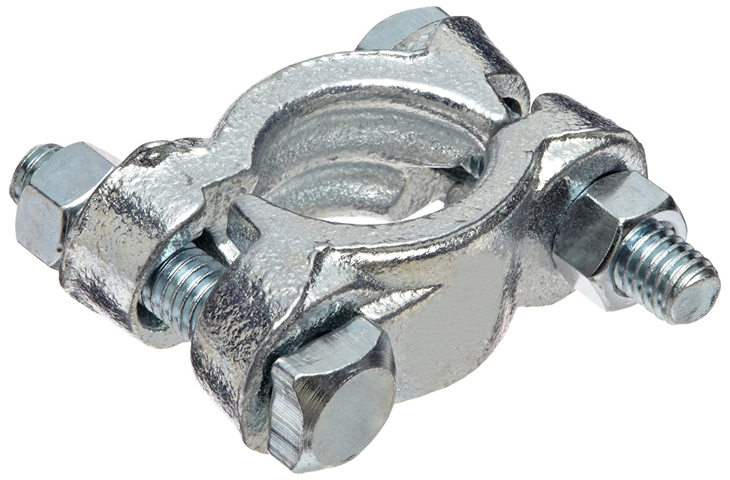 1-12//64-1-24//64 Hose OD Dixon J49 Plated Iron Double Bolt Clamp without Saddle