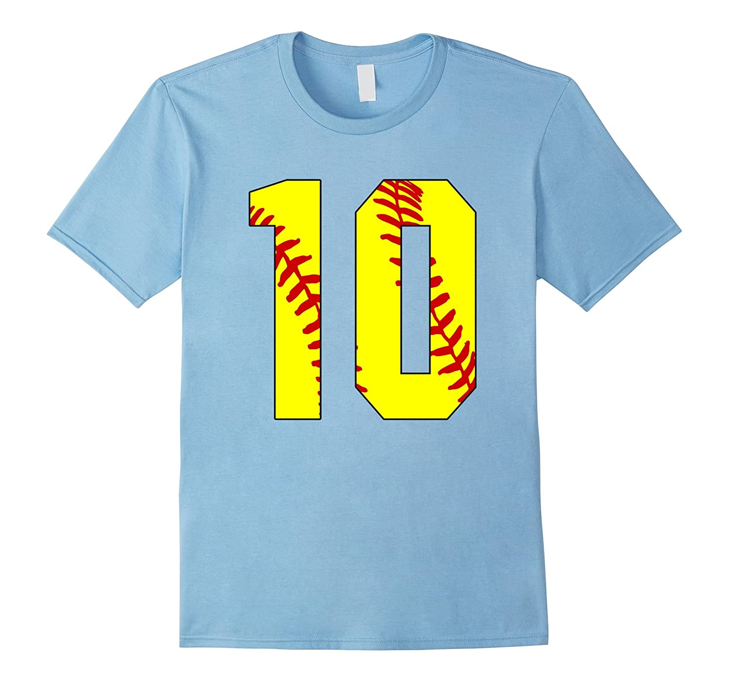 10 Softball Laces 10th Birthday Softball Mom Ten-CD