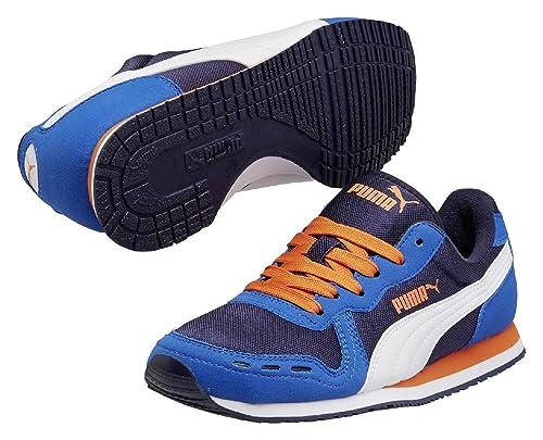Puma Cabana Racer Mesh JR - Zapatillas para Niños, Color Azul Oscuro, Talla 38