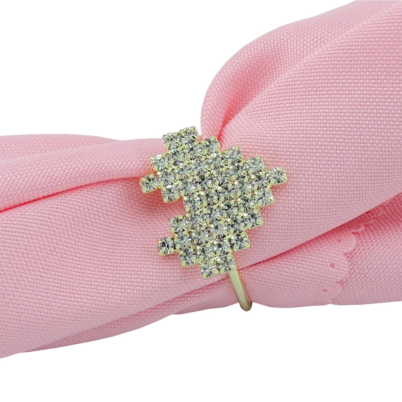 Amazon.com: Napkin Rings Holder for Weddings, Valentines Day ...