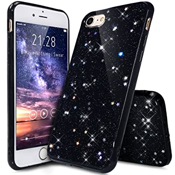 coque iphone 8 paillette noir