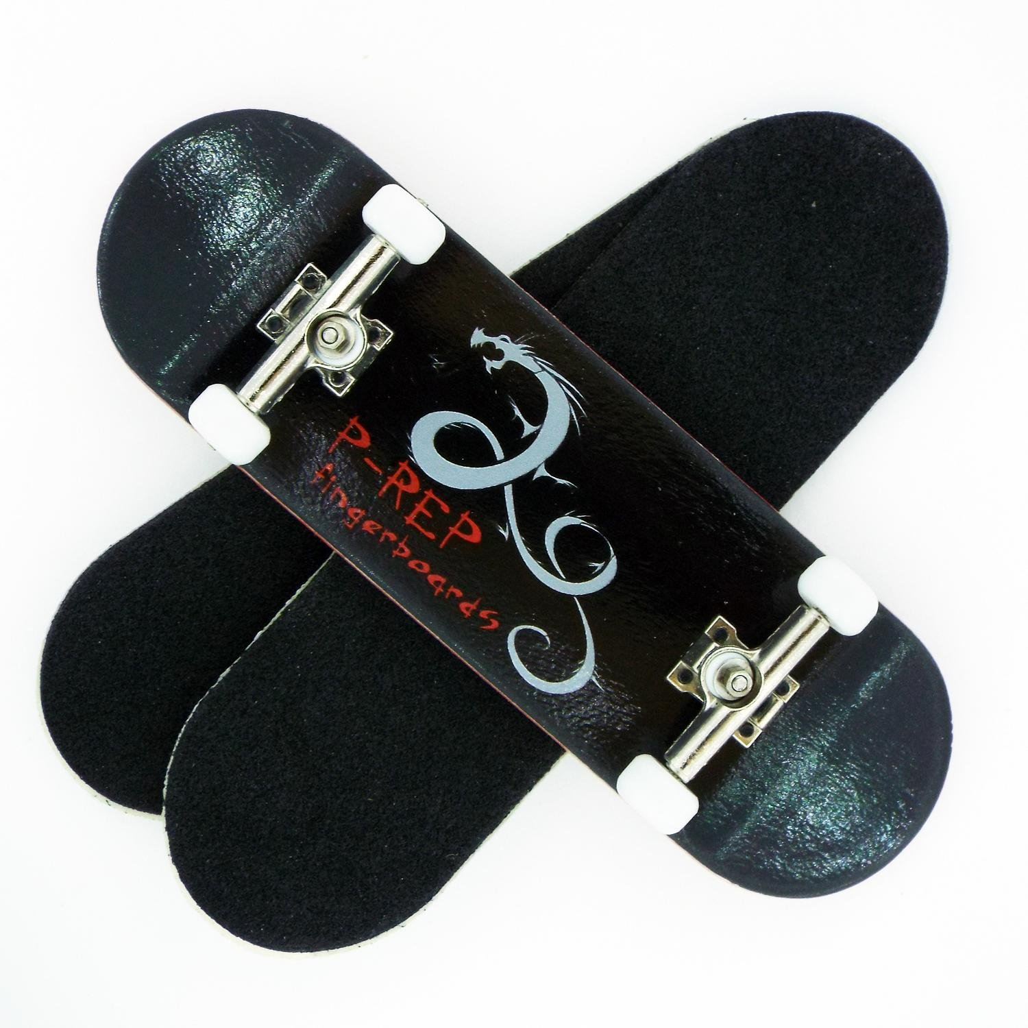 Peoples Republic P Rep Dragon 30mm Graphic Complete Wooden Fingerboard w CNC Lathed Bearing Wheels …