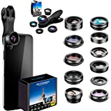 Phone Camera Lens 5 in1 Kit for iPhone Xs/R/X/8/7/6s Pixel, Samsung. 2xTele Lens Zoom Lens+198°Fisheye Lens+0.63XWide…