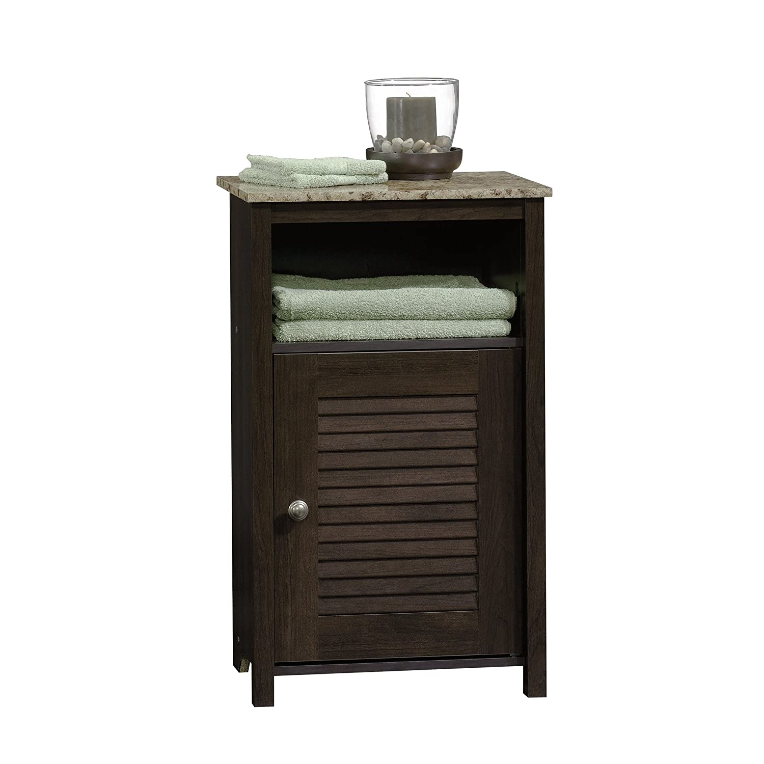 Sauder Peppercorn Floor Cabinet, Cinnamon Cherry Finish 414031
