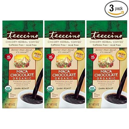 Teeccino - Juego de 3 bolsas orgánicas de café con hierbas ...