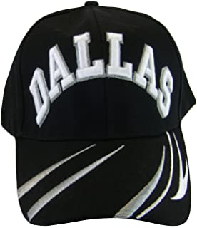 7bf668b5d0c BVE Sports Novelties Dallas Men s Script   Stripes Adjustable Baseball Cap