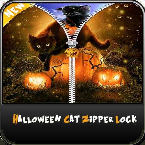 Halloween Cat Zipper Lock - New Locker Phone -
