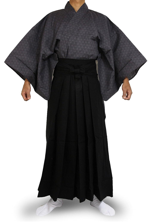 2GYBlack Edoten Japanese Samurai Hakama Uniform