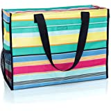Amazoncom Thirty One Deluxe Organizing Utility Tote Zip Top In Geo