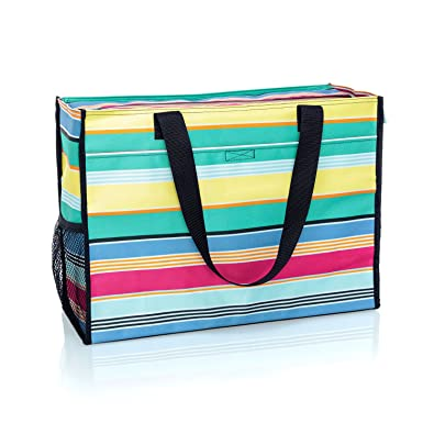 0cfc84eebfab Amazon.com: Thirty One Deluxe Organizing Utility Tote Zip Top in ...