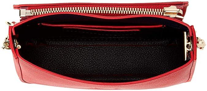 Tommy Hilfiger Damen My Tommy Mini Crossover Umhängetasche, Rot (RedCore Stripe), 4.5x11x17 cm